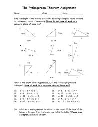 pythagorean theorem worksheets pdf 28 templates worksheet on