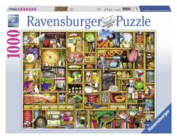 puzzle cuisine ravensburger 19298 4 puzzle 1000 pezzi credenza amazon it