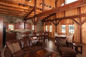 Timber Frame Home Interiors Home Design Barn Wood Home Great Sand Creek Post And Beam