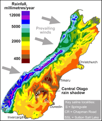 Map Of The South Evaporative Salts In Central Otago Geomorphology Department Of