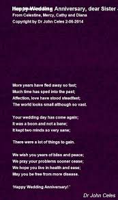 Wedding Wishes For Brother Happy Wedding Anniversary Dear Sister U0026 Brother In Law Poem By Dr