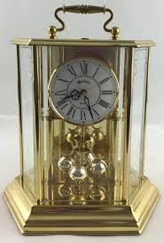 interior decor luxury bulova mantel clock brass finish for modern