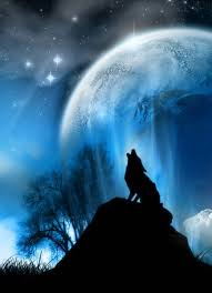 wolf howling at the moon painting ideas wolf