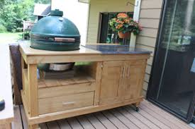 Green Egg Table by How To Build A Rolling Cart For Your Grill