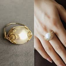 real pearl rings images 2018 brand design engagement ring for women baroque real natural jpg