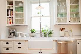 Farmhouse Kitchen Faucets Home Decor White Farmhouse Kitchen Sink Cabinet Door With Glass