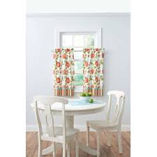 Kitchen Curtains Better Homes And Gardens Jacobean Stripe Kitchen Curtains Set Of