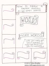 draw a word scroll banner step by step learn to draw kawaii and