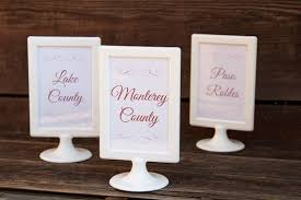3 of a set of 22 custom designed and printed wedding table name