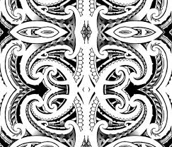 tribal koru fabric flyingfish spoonflower