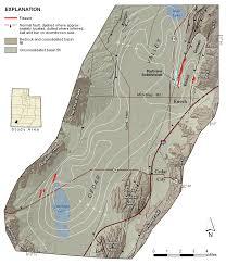 Bear Lake Utah Map by Land Subsidence And Earth Fissures In Cedar Valley U2013 Utah