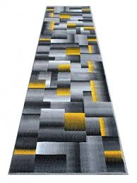 Yellow Runner Rug Modern 15 Foot Runner Rug Yellow Grey Black 32 Inch Photo 48