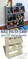Free Toy Box Plans Chalkboard by Toy Cubby Shelf Just One Sheet Of Plywood Cubby Shelves