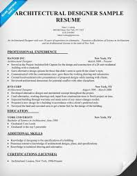 Designer Resume Examples by Architectural Designer Resume Sample Architecture