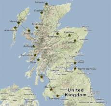 map of scotland and scotland motorhome itinerary and csite tips scotland