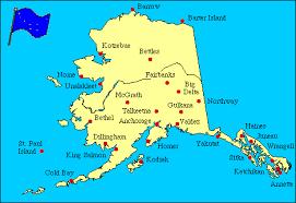alaska major cities map alaska facts