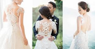 Designer Wedding Dresses Gowns Lovely Wedding Gown Back Designs Philippines Wedding Blog