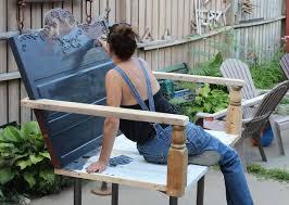 Swing Patio Furniture Repurposed Porch Swing Hometalk