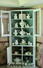 Farmhouse China Cabinet Our Hopeful Home Farmhouse China Hutch In Time For Dining Room