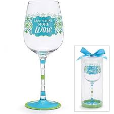 teal green and white u0027less whine more wine u0027 hand painted wine