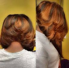 vies of side and back of wavy bob hairstyles wavy weave bob and short feathered hair also back view hairstyles