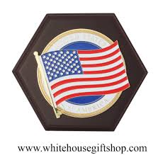 American Flag Magnet States Of America Flag Medallion On Wood Plaque Or Hang Made In