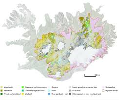 iceland map vegetation maps of iceland vegetation maps maps publications
