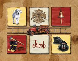 Firefighter Nursery Decor Righter Nursery Fireman Print Firefighter Wall For