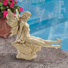 large sitting fairy resin garden statue internet gardener 40