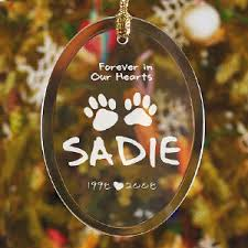in our hearts personalized pet memorial ornament tis the season