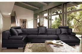 canape angle en cuir canapé d angle cuir italien 8 places napoli noir angle gauche