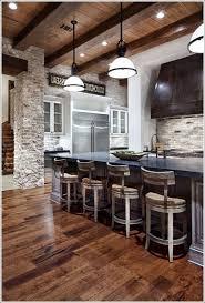 interior brick veneer backsplash kitchen diy faux brick painting