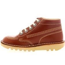 womens kickers boots kickers womens kick work leather patent laced platform hi boot