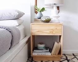 wood nightstand etsy