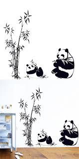222 best sticker wallpaper decoration images on pinterest wall zero new fresh nature diy wall sticker bamboo panda wall decal sticker wall art home decor