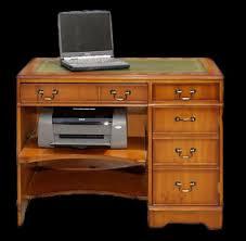 bureau informatique en bois bureau anglais caisson informatique longfield 1880
