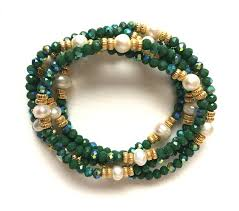 stacking bracelets stacking bracelets semi precious cleopatra winter green and
