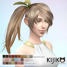 the sims 4 cc hair ponytail the sims 4 side ponytail hairstyle download