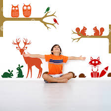 original woodland wall sticker decal pack jpg friendly woodland animals wall stickers home accessories