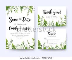 wedding invite invitation menu rsvp thank stock vector 729075718