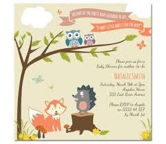 woodland creature baby shower creatures baby shower invitations