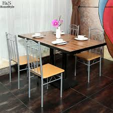 Ancheer 4pcs Set Dining Chair Metal Cafe Chair Seat Bistro