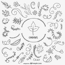leaves and ornaments vector free