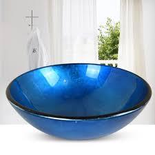 hand painted glass bathroom vessel bowl contemporary bathroom