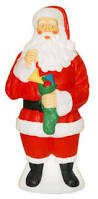 Outdoor Lighted Yard Christmas Decorations by Large Giant Santa Claus Lighted Plastic Blow Mold Light Up