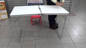 Folding Table With Sink Portable Aluminium Table Fold Able U0026 Adjustable Youtube