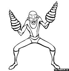 super villains coloring pages 1
