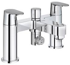 grohe chrome bath shower mixer tap with 2 lever 25129000 grohe eurosmart cosmopolitan deck mounted bath shower mixer tap