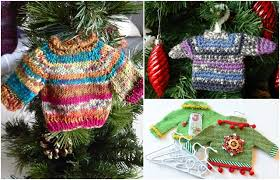 mini sweater ornaments are what you need this