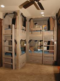 Built In Bunk Bed Plans Cabin Bunk Bed Ideas Kids Rustic With Light Wood Bunk Beds Built
